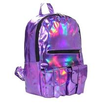 Frauen rucksack 2016 Mochila rucksack Frauen Silber Hologramm Laser Rucksack herrentasche leder Holographische reisetasche Multicolor