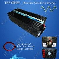 5000 Вт инвертор чистой синусоиды, 230 В 50 Гц инвертор 12 В до 220 В конвертер