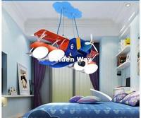 L67cm Azul Plano Criativo moderno Pingente LEVOU Luz Decorativa Quarto Crianças Menino Dos Desenhos Animados Casa Decora Iluminação Iluminação do Pendente|Luzes de pendentes| |  -
