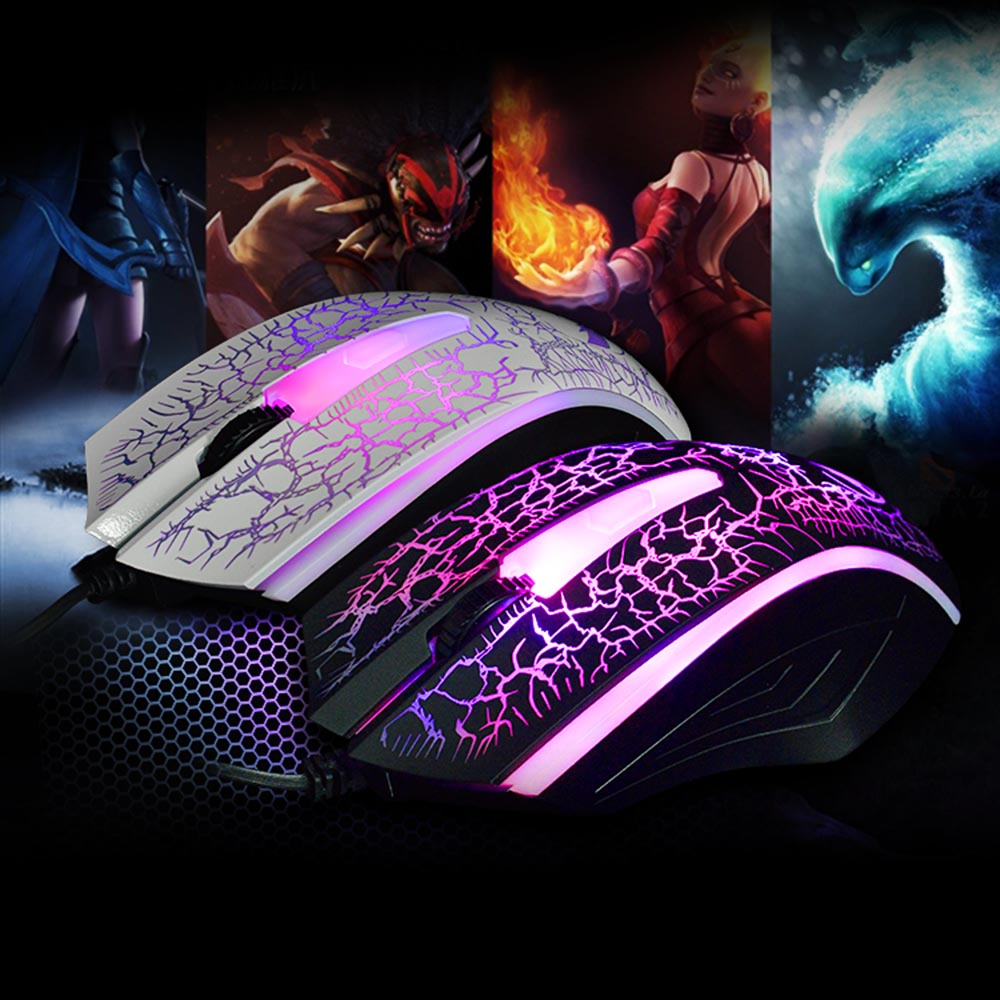 2400 DPI Ergonomic design USB Wired Optical Gaming Game mause Mice Mouse For PC Laptop
