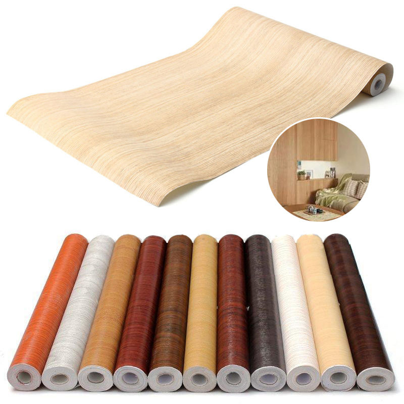 Adeeing 10M Self Adhesive PVC Decal Wood Grain Wall Film Paper Sticker for Home Office Furniture DIY Easy to Install No Mess