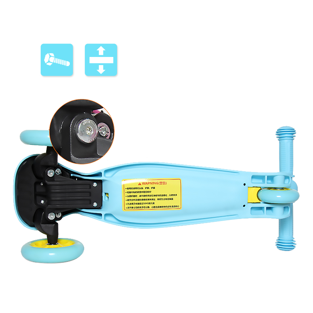 Image 4 - 2019 3 Wheels Folding Scooter with Light Up Wheels Adjustable Height for Kids Girls Boys Toys Gifts for Kids Outdoor Toy Scooter-in Skate Board from Sports & Entertainment