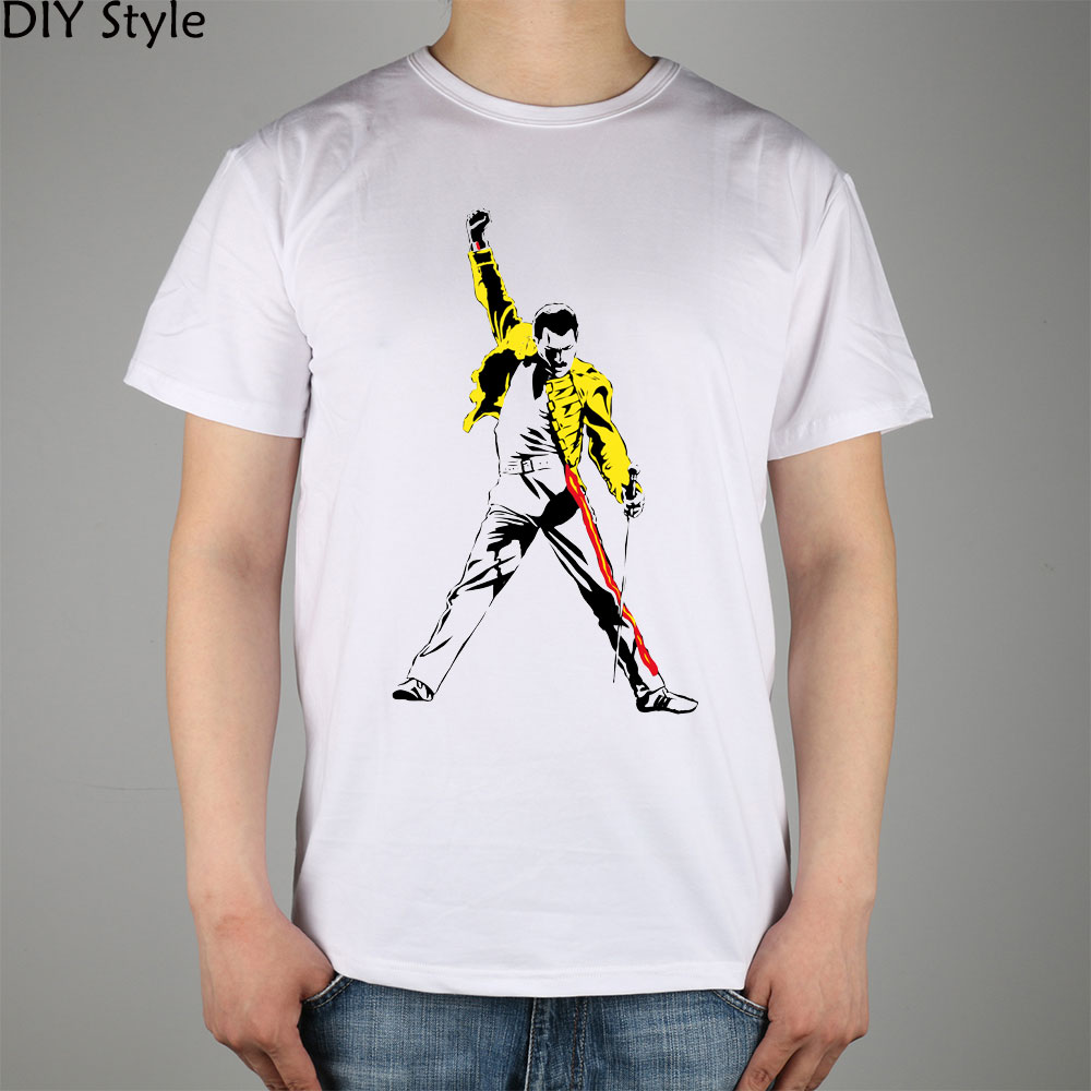 51c1cdef FREDDIE MERCURY TRIBUTE victory T shirt cotton Lycra top Queen Band 3019  Fashion Brand t shirt men new DIY Style high quality-in T-Shirts from Men's  ...