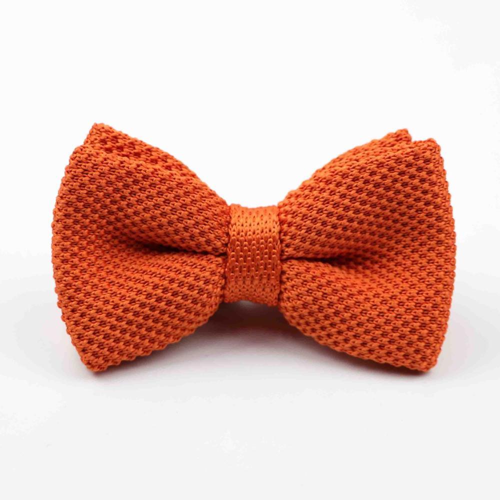 Мужские галстуки для шеи, смокинг, вязаная бабочка, Одноцветный галстук-бабочка, толстый двухслойный предварительно завязанный Регулируемый вязаный Повседневный галстук - Цвет: 44