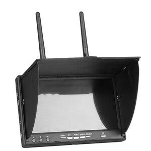 Image 3 - Pantalla de vídeo para multicóptero FPV LCD5802S LCD5802D 5802 5,8G 40CH 7 pulgadas, 800x480 con DVR, batería integrada