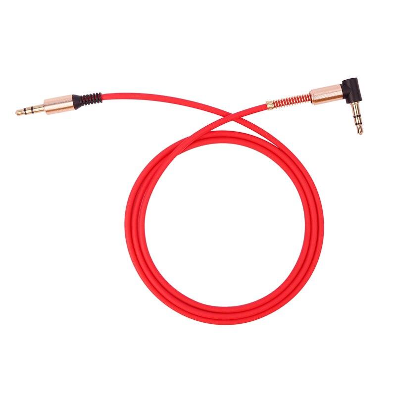 Aux кабель 3,5 мм аудио кабель 3,5 мм разъем динамик кабель папа-папа автомобильный шнур AUX для JBL наушников iphone samsung Aux шнур - Название цвета: A Red