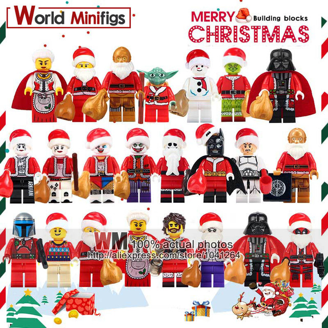 Harley Quinn Christmas.Us 0 85 Single Sale Merry Christmas Boy Joker Yoda Harley Quinn Christmas Granny C3po Deadpool Building Blocks Bricks Kids Gift Toys In Blocks From