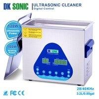 Цифровой DK sonic 3.2L ультра sonic пистолет Очиститель Дега с подогревом нержавеющая Ванна для часы цепи стоматологические инструменты ювелирные