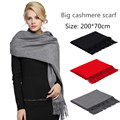 Women scarfs 2016 shawls Warm Pashmina luxury brand wool Cashmere scarf lady's men echarpe bufandas long fashion winter scarf