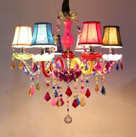 Diffuse Color Cafe Decorative Candle Chandelier European K9 Children Girl Real One Bedroom Creative Restaurant