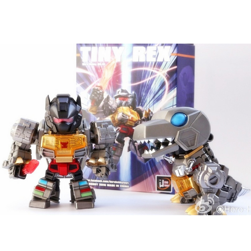 (IN STOCK) Toy Hero Hobby QD-01 TINY REX,Q Version Grimlock Include Alloy Integrated Transform