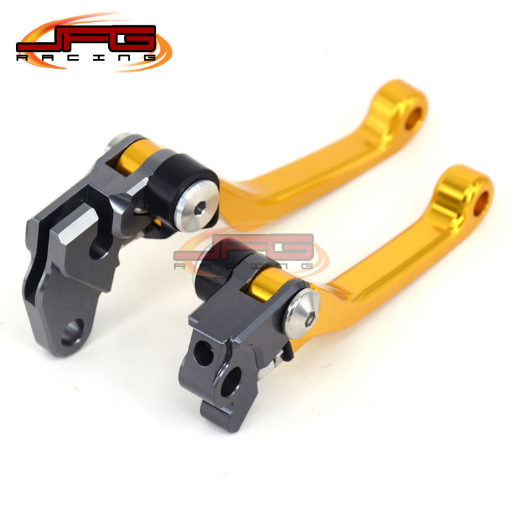 CNC Pivot Foldable Clutch Brake Lever For RM125 RM250 96-03 gold Supermoto Enduro Dirt Bike Off Road Motocross Motorcycle
