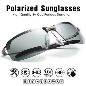 Image 3 - 2020 Nieuwe Mannen Fotochrome Gepolariseerde Zonnebril Uv Driving Eyewear Voor Mannen Vrouwen Drivers UV400 Zonnebril Mannelijke Bril