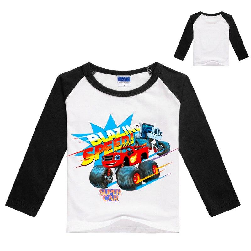 Crianças novas crianças de manga curta t-shirts crianças menino menina t meninos topos monstro máquina crianças menino em chamas velocidade carro desenhos animados chothe