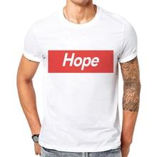 Funny Tshirt Men Short Sleeve O Neck T-Shirt Letter Hope Printing Tops High Quality Mens Cotton Tees Camisetas Hombre Verano