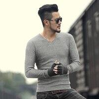 2017 New Metrosexual Men Brand Cotton Woolen Casual Pullovers Men Winter Mixed Color Slim Warm European