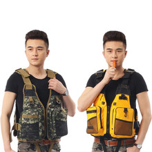 Grownup Fishing Vest Out of doors Sport Waistcoat Emergency Survival Security Life Vest Swimming Support Crusing Vest Drifting with Whistle