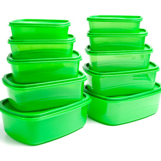 Whole 24pcs Pack As Seen On Tv 5 1 Green Storage Box Stay Fresh
