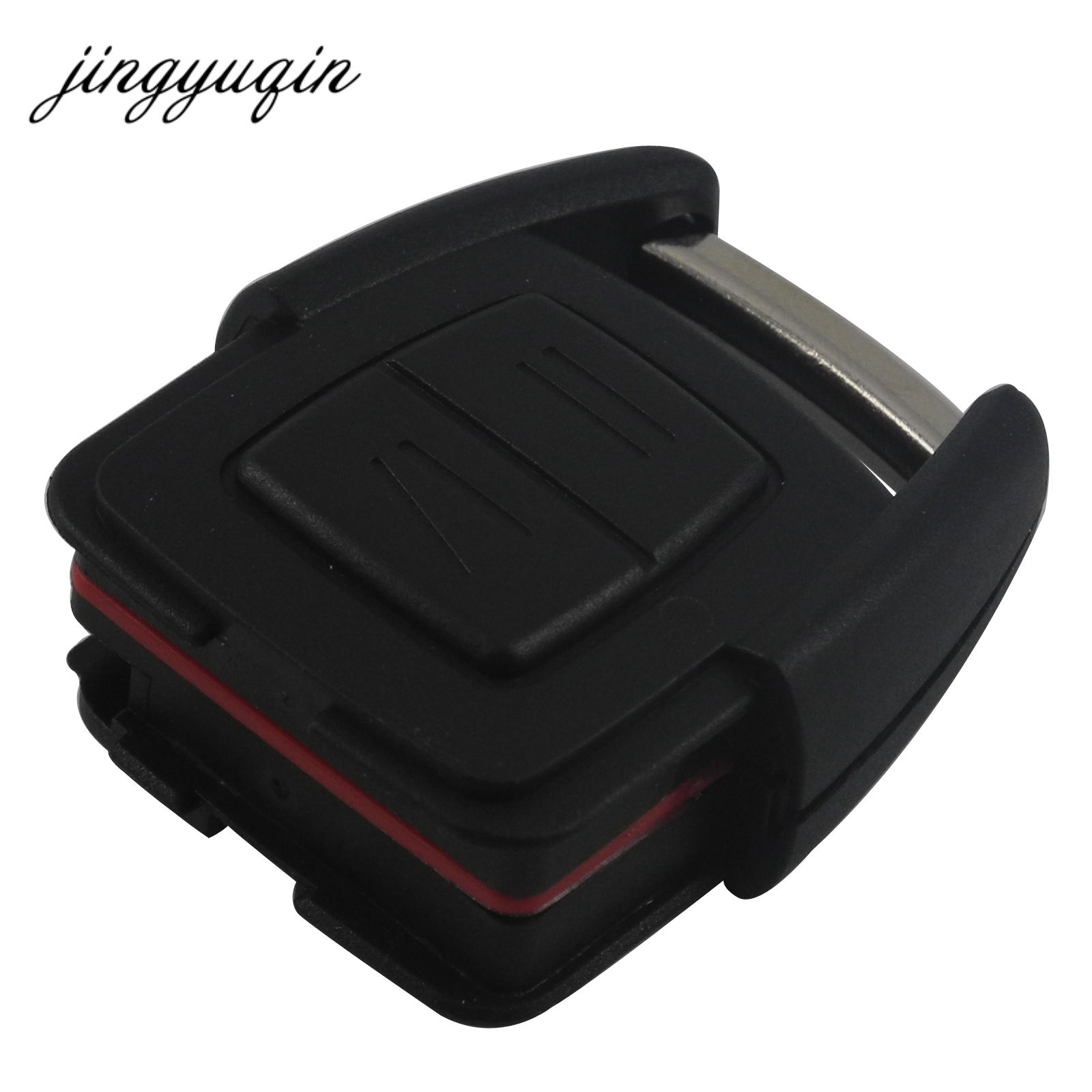 jingyuqin 2 Buttons Remote Car Key Shell for Vauxhall Opel Astra Zafira Omega Vectra No Chip Uncut Blade Car Key Case Fob jingyuqin new 1 button uncut blade remote car key shell for renault twingo clio kangoo master no chip keyless entry fob case page 2