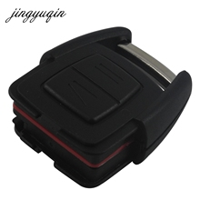 jingyuqin 2 Buttons Remote Car Key Shell for Vauxhall Opel Astra Zafira Omega Vectra No Chip Uncut Blade Car Key Case Fob