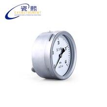 Co2 Давление калибра с 0~ 60 МПа мера диапазон 60 мм Диаметр осевой установить Air Давление манометр