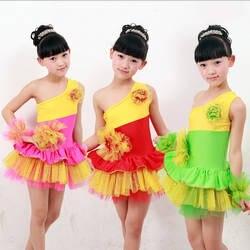 Современные дети Костюмы для латиноамериканских танцев Танцы одежда Обувь для девочек Одежда для бальных танцев платье принцессы Танцы
