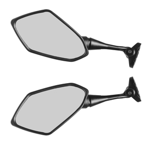 Image 4 - 1 Pair Universal Motorcycle Rearview Handlebar Mount Rear View Mirrors 6.3 x 3.5 Inch Back View Mirror Reduce Blind Spot