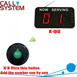 Hospital wireless paging calling system queue management 1 Ultra-thin button can add the number one by one 1 number screen