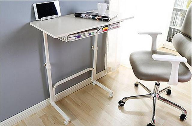 80*40CM Height Adjustable Side Table Laptop Desk Computer Desk With Storage  Space