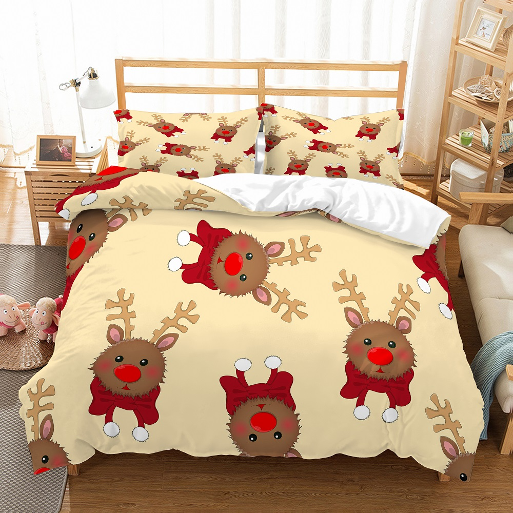 Animals Microfiber Duvet Cover Set 3D Butterfly Antelope Print Bedding Set With Pillowcase 2/3pcs Camouflage Boys Bed Linen Set