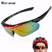 WEST BIKING Cycling Glasses Men Women Polarized Eyewear Bike Goggles Outdoor Sports Sunglasses Goggles 5 Lenses