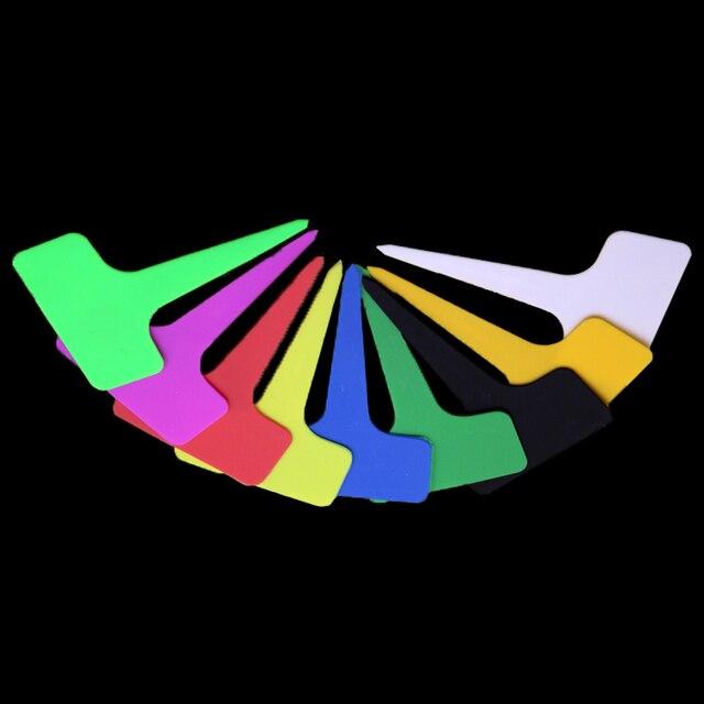 15 pz di Plastica A Buon Mercato Etichetta Tag a forma di T Segno Decorato Vivai