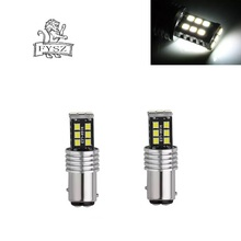 2Pcs BA15D LED 12V 1157  16W Car 15 lights 2835 The white light flash Brake free shipping