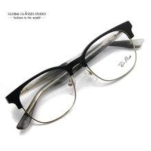 Designer inspirado moda cinza metal legal óculos quadros ópticos óculos g71