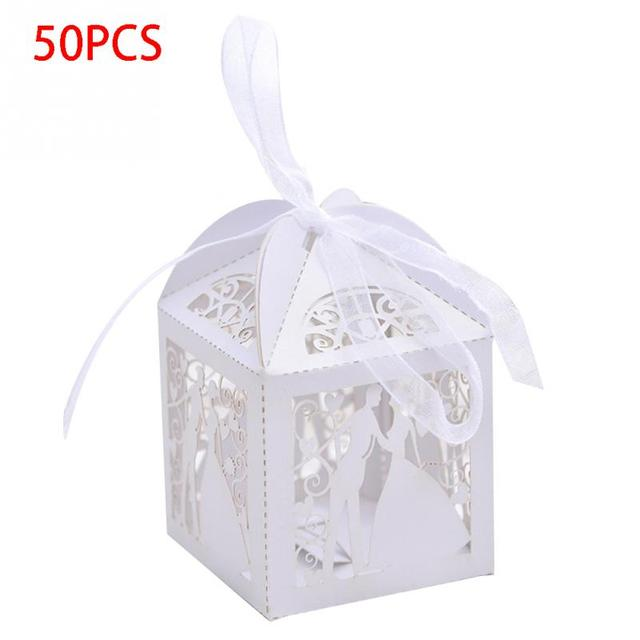 Lase Cut Wedding Sweets Candy Gift Favour Box Elegant Table