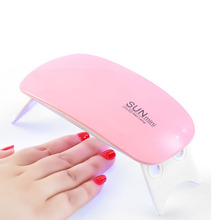 6W Nail Dryer LED UV  Manicure Machine Portable Mini Lamp Micro USB Gel Varnish Curing Art Tools 6 LEDS Lamps