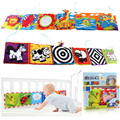 2016 Hot Sale Kids Mirror Animal Bed Cognize Cloth Book Baby Toy Gift Lovely Cute Popular