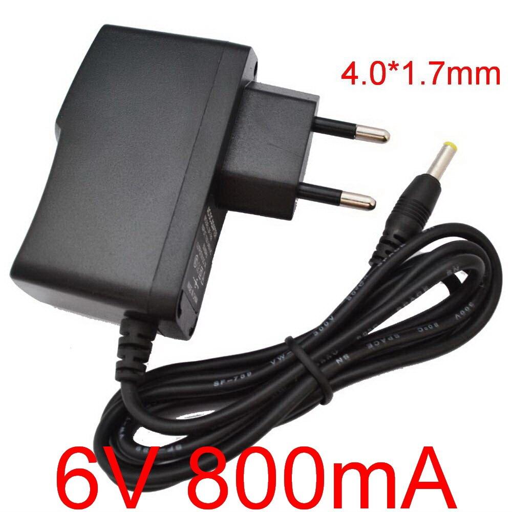 1 pces 6v800ma alta qualidade ac 100 v-240 v conversor de comutação adaptador de alimentação dc 6 v 800ma 0.8a fonte ue plug dc 4.0mm x 1.7mm