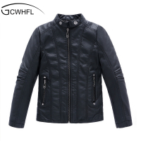 2015 New PU Leather Boys Casual Jacket Korean Children S Thick Leather Factory Direct A Generation
