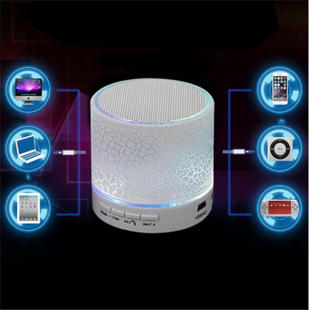 Portable Wireless Mini LED A9 Bluetooth Speaker Sound Box Subwoofer Speakers For Iphone Support TF SD Card PK BTS06 Q9 A9 S28 A5 Audio Speakers Consumer Electronics Electronics Speakers