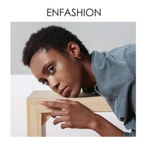 Image 5 - Женские панковские геометрические серьги гвоздики ENFASHION, золотистые минималистичные Кристальные серьги, модные ювелирные изделия, EC1040