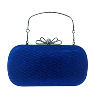 DAIWEI Women Bags Leatherette Evening Bag Bow S Crystal Detailing For Wedding Event Party Royal Blue