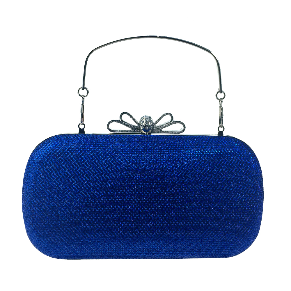 DAIWEI Women Bags leatherette Evening Bag Bow(s) Crystal Detailing for Wedding Event/Party Royal Blue Purple Red Silver Blac
