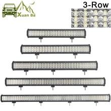 Barra de luces LED todoterreno XuanBa de 3 filas para coche 12V 24V RZR camión ATV SUV UTV barco 4WD Tractor Combo Barra Led 4x4 luces de Barra todoterreno