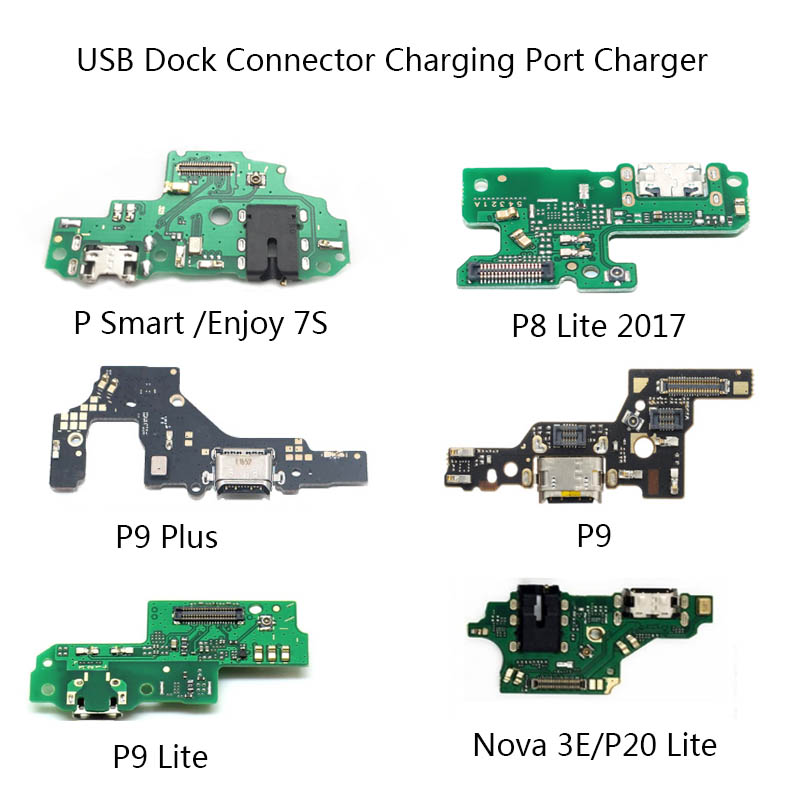 For Huawei P8 Lite 2017 P9 Plus P9 Lite P20 Lite Nova 3e USB Dock Connector Charging Port Charger Flex Cable Microphone P Smart