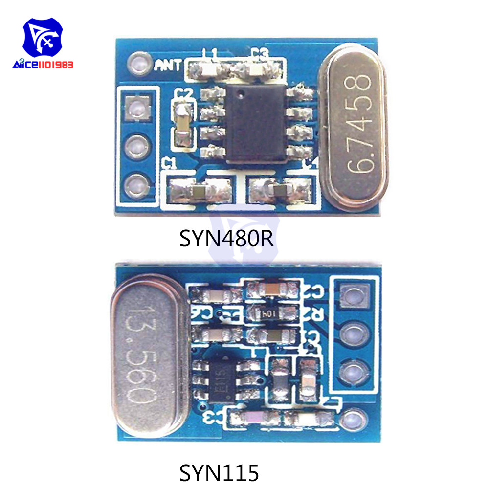 1 Set 433MHz Transmitter Receiver Wireless Module SYN115 Transmitter Module With SYN480R Receiver Module Ask/OOK Chip PCB