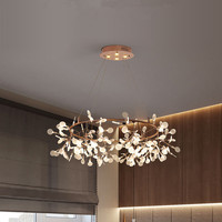 Nordic chandelier modern living room chandelier creative restaurant firefly chandelier personality simple designer bedroom lamps