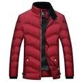 2016 горячих мужская Одежда Пальто и Куртки Вниз & Парки зима утолщение мужской теплая куртка тепловой пальто Темно-Синий размер 3xl красный