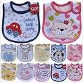 Baberos de bebé Hzirip patrón de dibujos animados lindo bebé impermeable Saliva Toalla de algodón Fit 0-3 años de edad Burp infantil paños de alimentación