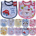 Baby Bibs Cute Cartoon Pattern Toddler Baby Waterproof Saliva Towel Cotton Fit 0-3 Years Old  Infant Burp Cloths Feeding Baby